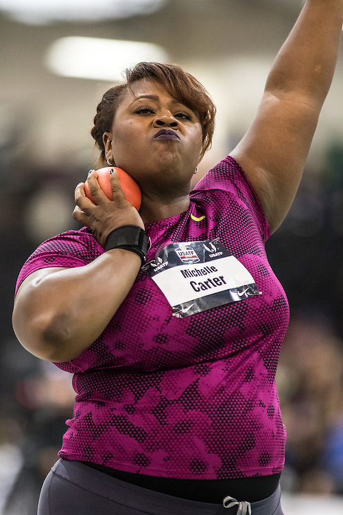 USATF Indoor Track & Field Championships: womens shot put, Michelle Carter, Nike