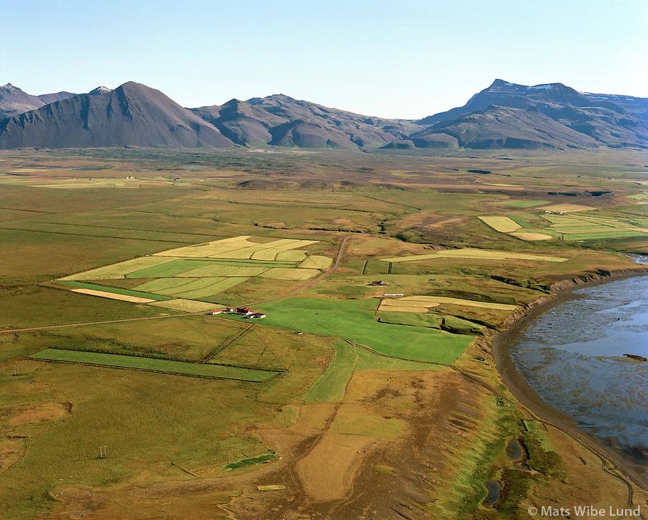 Eystra-Súlunes séð til norðausturs, Hvalfjarðarsveit áður Leirár og Melahreppur / Eystra-Sulunes viewing northeast, Hvalfjardarsveit former Leirar og Melahreppur.