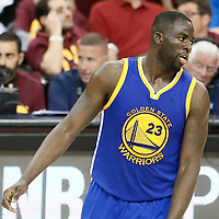 10 June 2016: Golden State Warriors forward Draymond Green (23) is seen during the Golden State Warriors 108-97 victory over the Cleveland Cavaliers, during Game Four of the 2016 NBA Finals at the Quicken Loans Arena, Cleveland, Ohio, USA.