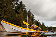 Chris Nagle kayaks on Comox Lake, BC. on Feb. 23, 2013.