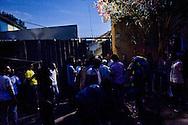 Roma 13 Giugno 2015<br /> I migranti nel centro di accoglienza  per migranti 'Baobab' vicino alla stazione ferroviaria Tiburtina di Roma. Centinaia di  migranti provenienti da Etiopia, Somalia ed Eritrea, tutti  arrivati negli ultimi mesi dalla Libia con i barconi e portati in Italia dopo essere stati salvati in mare.<br /> Rome June 13, 2015<br /> Migrants stand outside 'Baobab' migration centre close to the Tiburtina train station in Rome. Hundreds of migrants mainly from Ethiopia, Somalia and Eritrea, all arrived in recent months from Libya with the barges and taken to Italy after being rescued at sea.