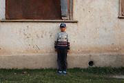 A portrait of a Kyrgyz boy