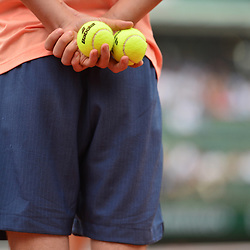 Babolat match ball during Day 11 of the French Open 2018 on June 6, 2018 in Paris, France. (Photo by Dave Winter/Icon Sport)