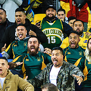 Fans haka after the super rugby union  game between Hurricanes  and Highlanders, played at Westpac Stadium, Wellington, New Zealand on 24 March 2018.  Hurricanes won 29-12.
