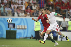 June 25, 2018 - Na - Saransk, 06/25/2018 - The national team of Portugal faced Iran today in the Group B match in the final round of the 2018 World Cup in Mordovia Arena. André Silva and Omid Ebrahimi. (Credit Image: © Atlantico Press via ZUMA Wire)