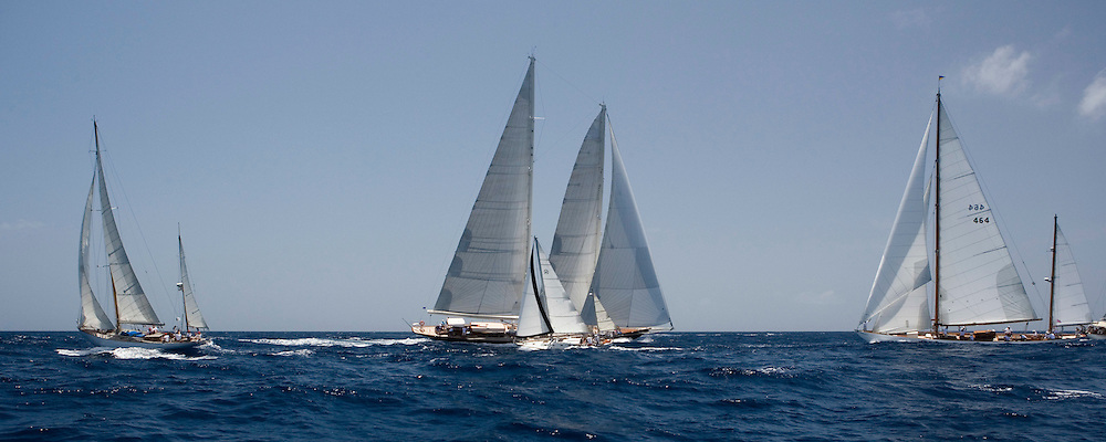 Sumurun, Skylge, Lazy Leg, Mariella at the Antigua Classic Yacht Regatta