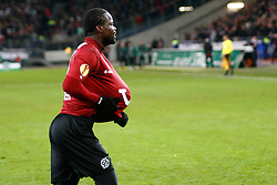 15.12.2011, AWD-Arena, Hannover, GER, UEFA EL,Gruppe B, Hannover 96 (GER) vs FC Vorskla Poltava (UKR), im Bild Didier Ya Konan (Hannover #11) bejubelt sein Tor mit dem Ball unter dem Trikot // during UEFA Europa League group B match between Hannover 96 (GER) and FC Vorskla Poltava (UKR) at AWD-Arena Stadium, Hannover, Germany on 15/12/2011. EXPA Pictures © 2011, PhotoCredit: EXPA/ nph/ Schrader..***** ATTENTION - OUT OF GER, CRO *****