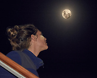 Chloé Viewing the Moon. Image taken with a Fuji X-T1 camera and 55-200 mm VR lens