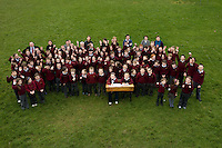 The staff and pupils  of the national school in Kilimor, Co. Galway  .  Photo:Andrew Downes