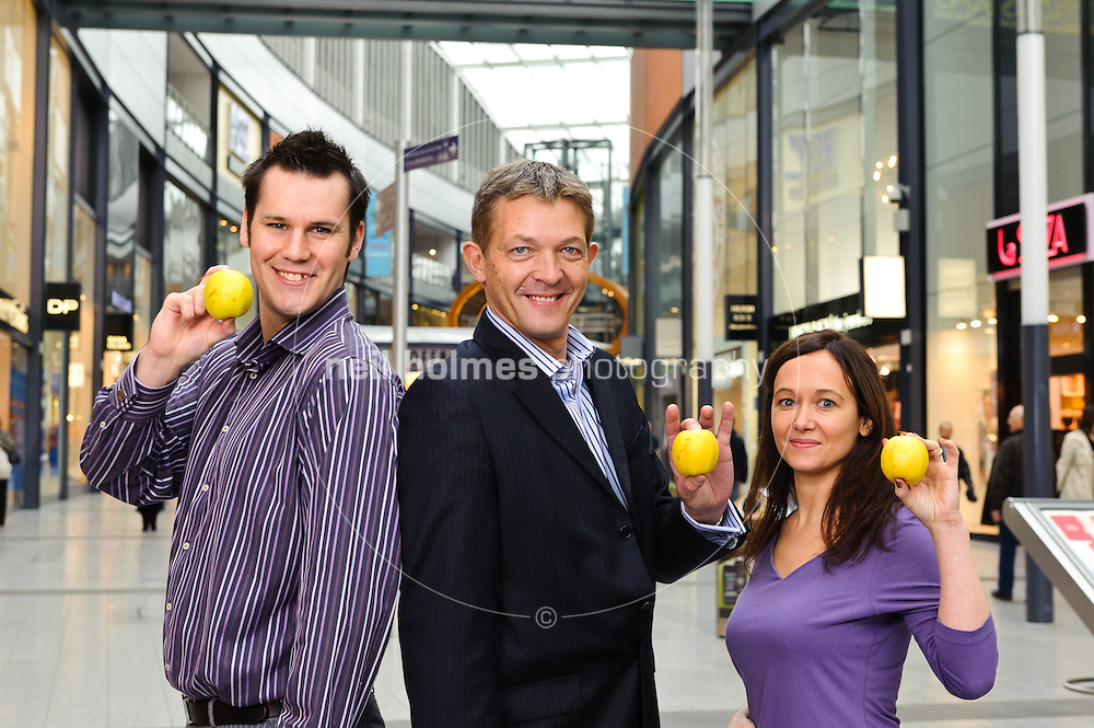 St Stephens Shopping Centre. Pictured LtoR John Gilbert, Jim Harris, Karen Butler