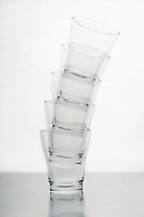 Stack of drinking glasses