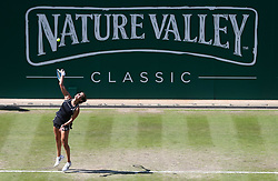 Germany's Julia Goerges in action during her quarter final against Czech Republic's Petra Kvitova during day five of the Nature Valley Classic at Edgbaston Priory, Birmingham.