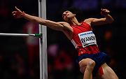Tihomir Ivanov (BUL) approaches the bar in the High Jump final during the IAAF World Indoor Championships at Arena Birmingham in Birmingham, United Kingdom on Thursday, Mar 1, 2018. (Steve Flynn/Image of Sport)