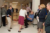 Richard A Dearborn Science Center dedication at Laconia High School.  Karen Bobotas/for the Laconia Daily Sun