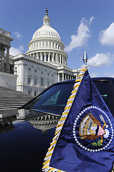 The limo of U.S. President Barack Obama is seen parked out of Capitol Hill during the annual St. Patrick s Day luncheon in Washington D.C., capital of the United States, March 19, 2013. Photo by Imago / i-Images...UK ONLY.