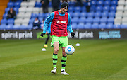 Forest Green Rovers Christian Doidge(9) during the warm up during the Vanarama National League match between Macclesfield Town and Forest Green Rovers at Moss Rose, Macclesfield, United Kingdom on 12 November 2016. Photo by Shane Healey.