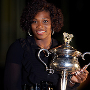 Serena Williams USA at an organised Photo Shoot after winning the Women's singles title at the Australian Tennis Open on January 31, 2009 in Melbourne, Australia. Photo Tim Clayton    .