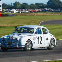 1959 Jaguar 3.4-litre driven by Anthony & Grant Williams in the St. Mary's Trophy at Goodwood Revival 2019