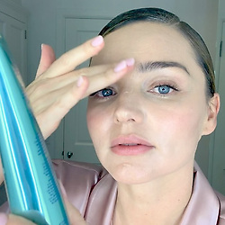 "Miranda Kerr releases a photo on Instagram with the following caption: ""Happy New Year and Happy NEW MASK! I\u2019m so excited that my new @koraorganics Noni Glow Sleeping Mask launches today!\u2728 This certified organic, lightweight bouncy gel treatment is my new favorite nighttime ritual. My skin wakes up feeling super soft, hydrated\ud83d\udca6 and fresh. You will love it! Check out link in bio \ud83d\ude18"". Photo Credit: Instagram *** No USA Distribution *** For Editorial Use Only *** Not to be Published in Books or Photo Books ***  Please note: Fees charged by the agency are for the agency's services only, and do not, nor are they intended to, convey to the user any ownership of Copyright or License in the material. The agency does not claim any ownership including but not limited to Copyright or License in the attached material. By publishing this material you expressly agree to indemnify and to hold the agency and its directors, shareholders and employees harmless from any loss, claims, damages, demands, expenses (including legal fees), or any causes of action or allegation against the agency arising out of or connected in any way with publication of the material."