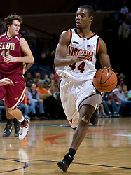 Virginia guard Sean Singletary (44) in action against Elon.  The Virginia Cavaliers men's basketball team defeated the Elon Phoenix 91-61  at the John Paul Jones Arena in Charlottesville, VA on December 22, 2007.