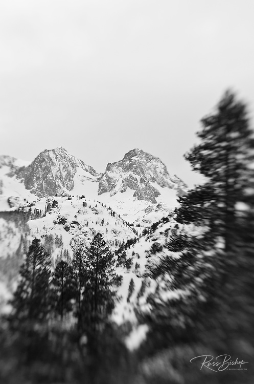 Banner and Ritter Peaks in winter, Ansel Adams Wilderness, Sierra Nevada Mountains, California USA
