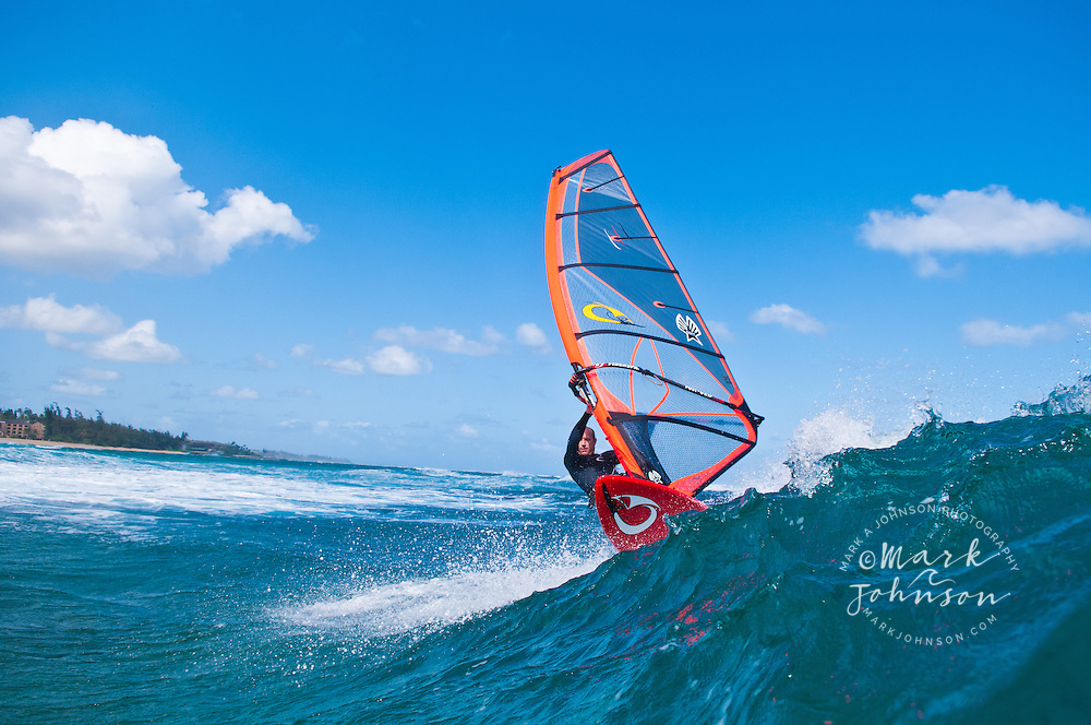 Windsurfing, Kauai, Hawaii
