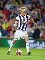 WEST BROMWICH, ENGLAND - Monday, August 10, 2015: West Bromwich Albion's captain Darren Fletcher in action against Manchester City during the Premier League match at the Hawthorns. (Pic by David Rawcliffe/Propaganda)