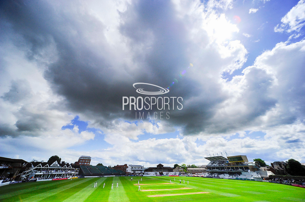 Dark clouds above the County Ground during the Specsavers County Champ Div 1 match between Somerset County Cricket Club and Warwickshire County Cricket Club at the Cooper Associates County Ground, Taunton, United Kingdom on 19 May 2017. Photo by Graham Hunt.