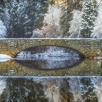 Stoneman Bridge in winter, Yosemite National Park, California.