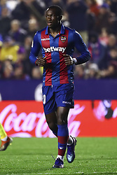 January 4, 2019 - Valencia, Spain - Levante's forward Raphael Dwamena  during  spanish La Liga match between Levante UD vs Girona FC  at Ciutat de Valencia  Stadium on January  4, 2018. (Photo by Jose Miguel Fernandez/NurPhoto) (Credit Image: © Jose Miguel Fernandez/NurPhoto via ZUMA Press)
