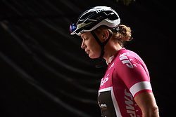 Kirsten Wild (NED) makes her way to sign on at Giro Rosa 2018 - Stage 5, a 122.6 km road race starting and finishing in Omegna, Italy on July 10, 2018. Photo by Sean Robinson/velofocus.com