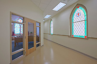 Interior Image of Queens Chapel UMC in Beltsville Maryland by Jeffrey Sauers of Commerial Photographics