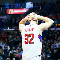 12 December 2016: LA Clippers forward Blake Griffin (32) looks dejected during the LA Clippers 121-120 victory over the Portland Trail Blazers, at the Staples Center, Los Angeles, California, USA.