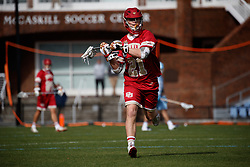 CHAPEL HILL, NC - MARCH 02: Kyle Smith #21 of the Denver Pioneers during a game against the North Carolina Tar Heels on March 02, 2019 at the UNC Lacrosse and Soccer Stadium in Chapel Hill, North Carolina. Denver won 12-10. (Photo by Peyton Williams/US Lacrosse)