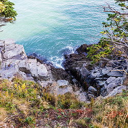 The view at Quoddy Head State Park in Lubec, Maine.