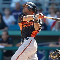 March 7, 2011; Fort Myers, FL, USA; Baltimore Orioles right fielder Randy Winn (39) during a spring training exhibition game against the Boston Red Sox at City of Palms Park.   Mandatory Credit: Derick E. Hingle