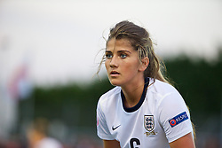 LLANELLI, WALES - Monday, August 19, 2013: England's Paige Williams in action against France during the Group A match of the UEFA Women's Under-19 Championship Wales 2013 tournament at Stebonheath Park. (Pic by David Rawcliffe/Propaganda)