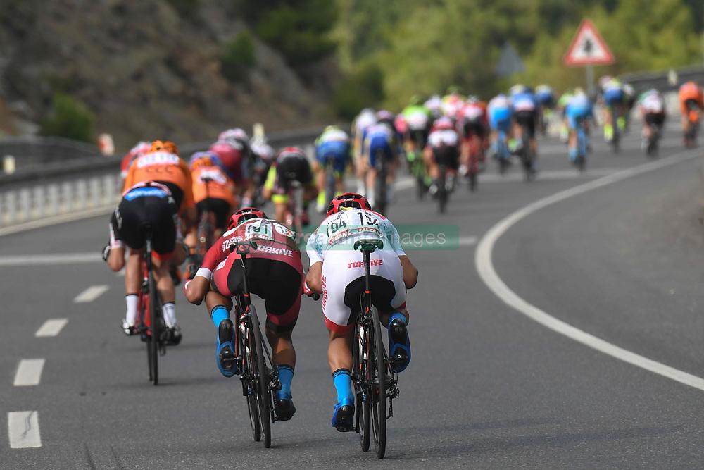 October 11, 2018 - Marmaris, Turkey - Peloton during the third stage - the Troy Stage 137.2km Fethiye - Marmaris, of the 54th Presidential Cycling Tour of Turkey 2018. .On Thursday, October 11, 2018, in Marmaris, Turkey. (Credit Image: © Artur Widak/NurPhoto via ZUMA Press)