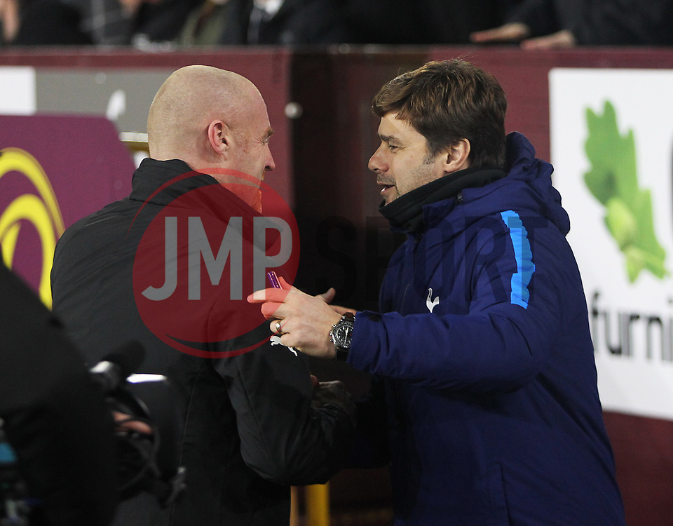 Burnley manager Sean Dyche (L) and Tottenham Hotspur manager Mauricio Pochettino before the match - Mandatory by-line: Jack Phillips/JMP - 23/12/2017 - FOOTBALL - Turf Moor - Burnley, England - Burnley v Tottenham Hotspur - English Premier League
