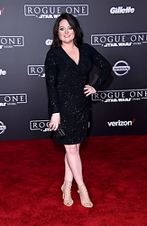 Celebrities walk the red carpet for the 'Rogue One: A Star Wars Story' world premiere held at the Pantages Theatre in Hollywood. 10 Dec 2016 Pictured: Lauren Ash. Photo credit: American Foto Features / MEGA TheMegaAgency.com +1 888 505 6342