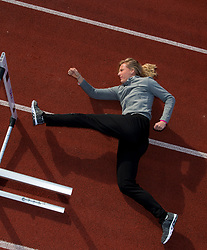 14-02-2019 NED: Portrait Sharona Bakker, Nieuwegein<br /> Sharona Bakker is a Dutch athlete, who has focused on the hurdles. In this discipline she won a total of five national titles in the A and B juniors. Born: IJmuiden