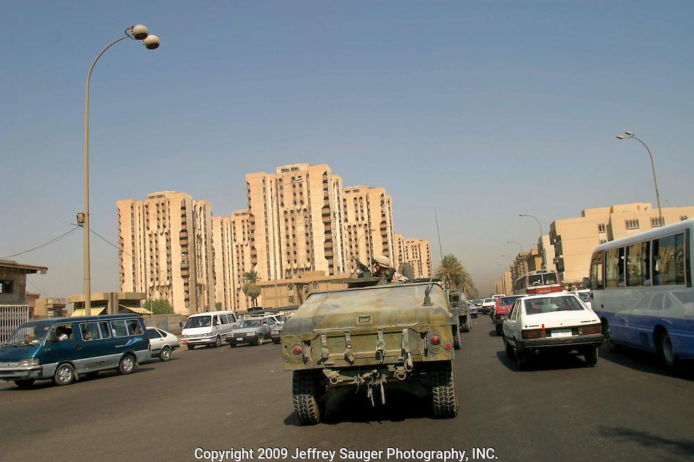 U.S. forces on patrol in Baghdad, Iraq.
