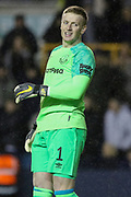Jordan Pickford during the The FA Cup fourth round match between Millwall and Everton at The Den, London, England on 26 January 2019.