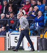 23rd September 2017, Rugby Park, Kilmarnock, Scotland; SPFL Premiership football, Kilmarnock versus Dundee; Kilmarnock manager Lee McCulloch shouts advice