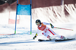 February 15, 2018 - Pyeongchang, South Korea - BERNADETTE SCHILD of Austria on her first run at the Womens Giant Slalom event Thursday, February 15, 2018 at the Yongpyang Alpine Centerl at the Pyeongchang Winter Olympic Games.  Photo by Mark Reis, ZUMA Press/The Gazette (Credit Image: © Mark Reis via ZUMA Wire)
