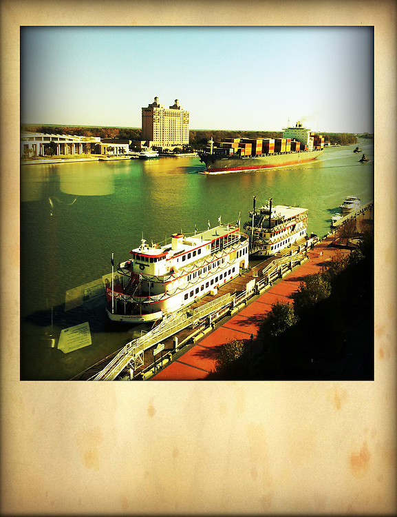 Savannah with Riverboat,shot from above cellphone photography,Iphone pictures,smartphone pictures