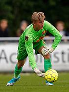 FODBOLD: Runar Alex Runarsson (FC Nordsjælland) under træningskampen mellem FC Helsingør og FC Nordsjælland den 23. juni 2017 på Helsingør Stadion. Foto: Claus Birch