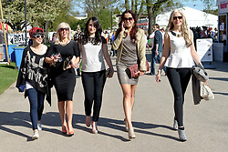 Cheltenham Jazz Festival, Cheltenham, United Kingdom, Five women from Cheltenham stride out on a lazy sunny Sunday at Cheltenham Jazz Festival 2013, Sunday 05 May, 2013, Photo by: i-Images