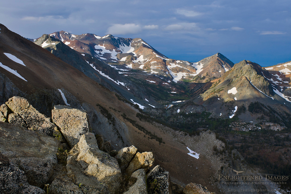 Looking toward Excelsior Mountain, from the side of Dunderberg Peak, Mono County, Eastern Sierra, California