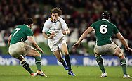Photo © SPORTZPICS/ SECONDS LEFT IMAGES 2010/Colm O'Neill  - South Africa's Zane Kirchner in action against David Wallace (L) and Stephen Ferris (R) of Ireland - Ireland v South Africa - Guinness Series 2010 - Aviva Stadium - Dublin - Ireland - 06/11/10 - All rights reserved